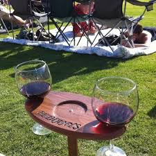 outdoor wine glass holder table definitely a diy project portable outdoor wine table and glass