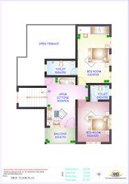 sq ft to sq m floor plan and elevation of 2336 sq feet 4 bedroom house home