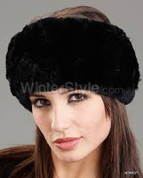 winter headbands black knit rex rabbit fur headband winter style