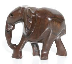 wood elephant figurine country home decor wooden african statues