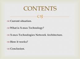 seminar on x max technology ppt