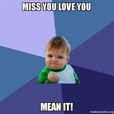 What S Meme Mean - miss you love you mean it success kid make a meme