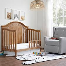 Rustic Convertible Crib by Dorel Living Baby Relax Macy Toddler Rail Natural Rustic