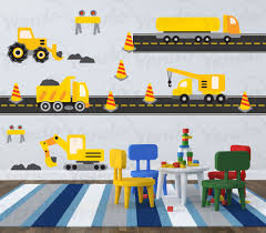 truck decal construction wall decal transportation wall zoom