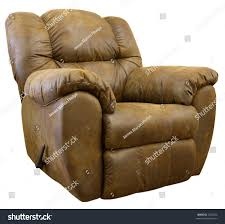 brown micro suede rocker recliner chair stock photo 3262542