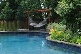 marvelous hammock chair stand in pool traditional with gazebo