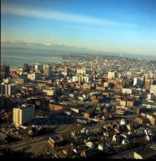 seattle city light change of address aerial of downtown 1968 seattle s changing skyline pinterest