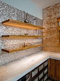 Rustic Kitchen Backsplash Accent Tiles Backsplash Set Of 8 Brown Patinated Copper Tiles