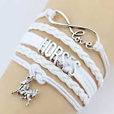 silver infinity bracelet with charms images Horse bracelet gift for girls horse jewelry infinity bracelet jpg