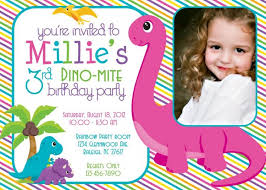 template 3rd birthday invitation wording samples with dinosaur