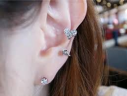 stud for ear fashion accessories sweet shape diamond ear clip s shaped