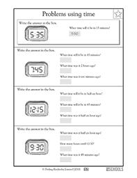 3rd grade 4th grade math worksheets calculating time greatschools