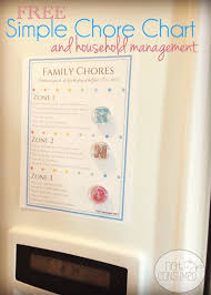 simple chore chart and household management