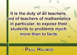 it is the duty of all teachers and of teachers of mathematics in