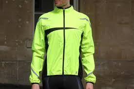 mtb rain jacket review b twin 500 high visibility waterproof cycling jacket road cc