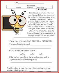 reading comprehension worksheets 1st grade kristal project edu