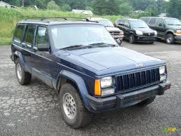 jeep cherokee blue dark blue pearl 1996 jeep cherokee sport 4wd exterior photo