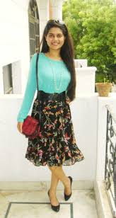 clothes and creativity floral skirt and mint green top