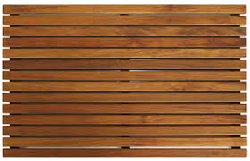 Wood Shower Door by Amazon Com Bare Decor Zen Spa Shower Or Door Mat In Solid Teak