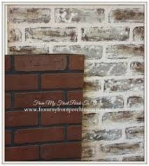 transform this faux brick paneling by painting it for kitchen back
