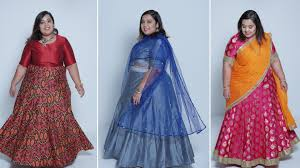 kurti pattern for fat ladies how to style lehengas plus size fashion series by prerna adsul