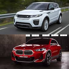 land rover bmw photo comparison bmw x2 concept vs range rover evoque