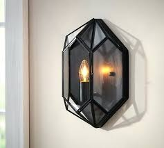 Outdoor Candle Wall Sconces Sconce Faceted Indoor Outdoor Sconce Lantern Sconce Indoor