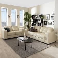 Cream Colored Sectional Sofa by Baxton Studio Dobson Modern Cream Bonded Leather Sectional Sofa