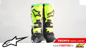 tech 10 motocross boots bottes motocross alpinestars tech 10 vegas youtube