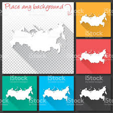 Moscow Russia Map Russia Map For Design Long Shadow Flat Design Stock Vector Art