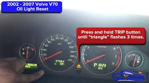 2002 2007 volvo v70 oil light reset service light reset youtube