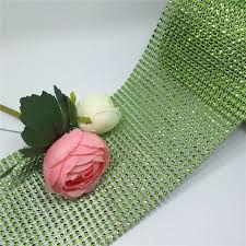 mesh ribbon table decorations 4 75 10yard light green rhinestone mesh wrap ribbon wedding