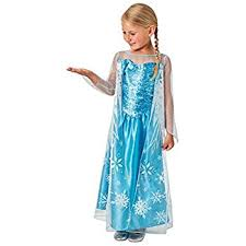little girls princess anna and elsa dress costume 3 4 years sky