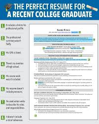 example of a good resume for a college student