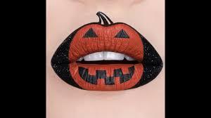 jack o u0027 lantern halloween lip art tutorial youtube