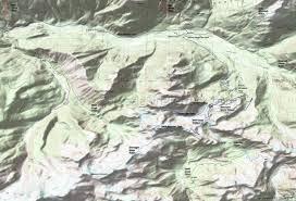 Table Rock Lake Map Chain Lakes Trail 682 Lake Ann Trail 600 Panorama Dome Trail
