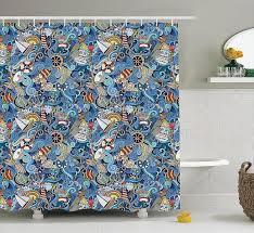 Bathroom Endearing Nautical Blue Small Bathroom Endearing Nautical Sea World Starfish Shell Shower