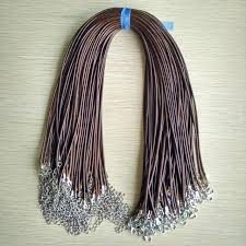 cord necklace clasp images Fast ship 2mm coffee wax leather cord necklace rope 45cm chain jpg