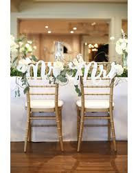 bride and groom sweetheart table bargains on wedding chair signs mr mrs signs for bride and groom