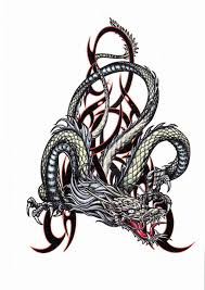 dragon serpent multi color temporary tattoo removable body art ink