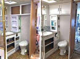Rv Bathroom Remodeling Ideas Rv Bathroom Remodel The Was Probably Disaster We Were