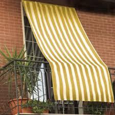 tende sole tenda da sole 150x290cm in tessuto a strisce con anelli ombra per