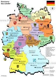 map of gemany map of germany the lander planetware
