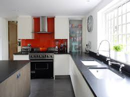 Red Kitchen Backsplash by Modern Kitchen Black And White Kitchen Ideas With Red Tile