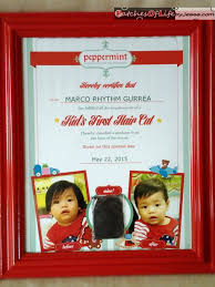 review peppermint salon p500 first haircut with certificate