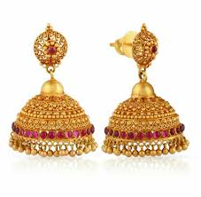 temple design gold earrings jumka traditional design jewellery traditional
