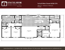 schult floor plans schult main street 6028 376 custom modular