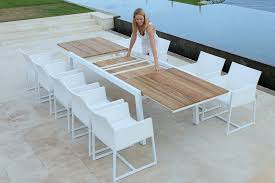 Expandable Patio Table Modern Baia Extendable Dining Table Viesso At Expandable Outdoor