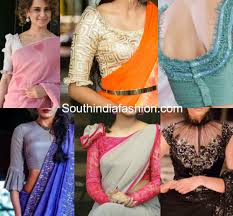saree blouses trending frilled sleeves saree blouses south india fashion