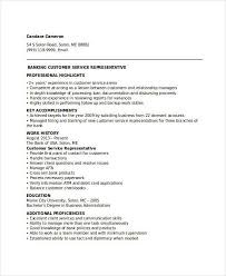 Professional Highlights Resume Examples by Banking Resume Samples 45 Free Word Pdf Documents Download